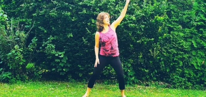 Feel younger with dancing moves. Antiaging fitness dancing work-out